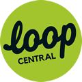 Loop Central logo in the footer of our website