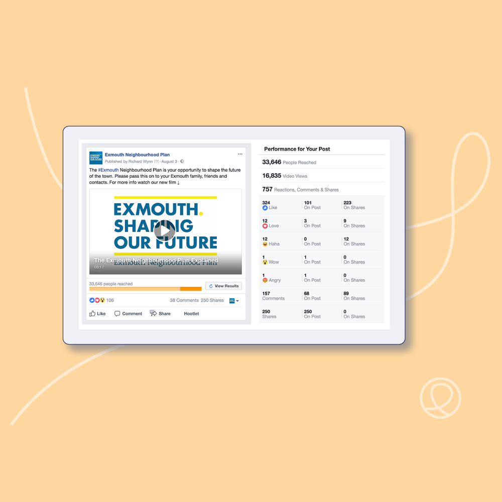 Our work to promote the Exmouth Neighbourhood Plan included a creative social media