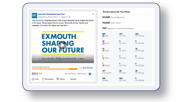 Social media campaign for Exmouth Town Council and its Neighbourhood Plan