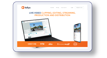 Tellyo website containing content by Loop Central