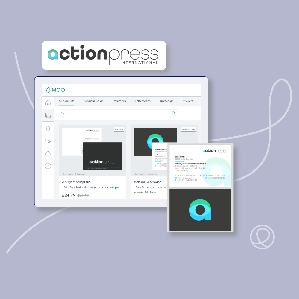 Action Press International logo and branding by Loop Central