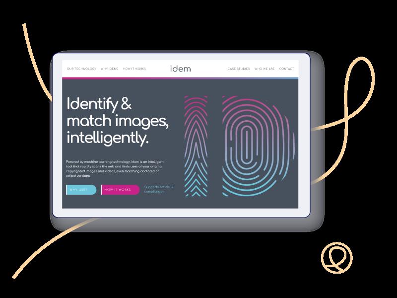 New branding and website for digital content protection platform, Idem