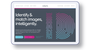 Our for Idem included new branding and a website